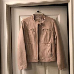 MICHAEL Michael Kors Tan Leather Jacket